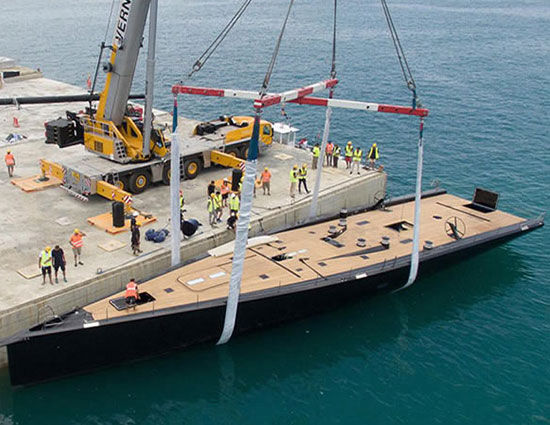 Tango, the latest Wallycento superyacht, is successfully launched